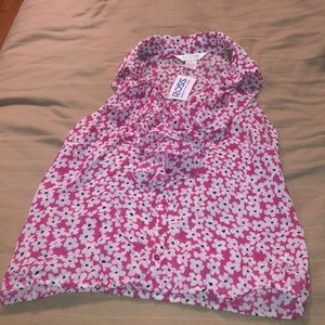 NWT ALLISON TAYLOR PINK FLORAL TOP LARGE